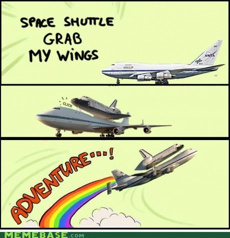 adventure plane space shuttle wings
