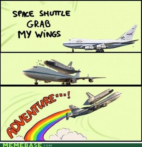 adventure plane space shuttle wings - 6604989696
