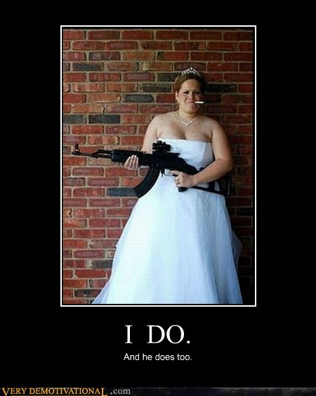 bride bridezilla gun just say no wtf - 6605222144