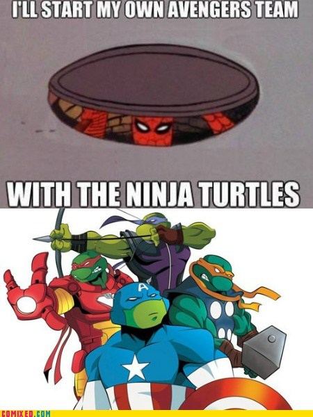 avengers awesome Spider-Man TMNT - 6605729280