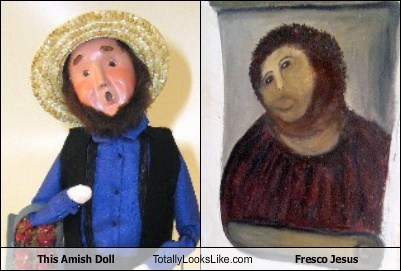 This Amish Doll Totally Looks Like Fresco Jesus
