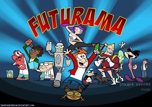 futurama Fan Art crossover cartoon network cartoons - 6606217728