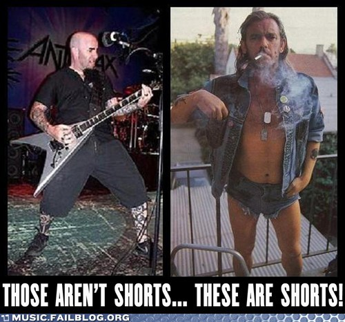 anthrax,Motörhead,shorts