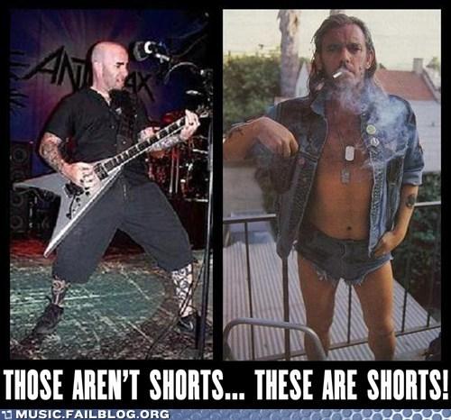 anthrax Motörhead shorts - 6606349056