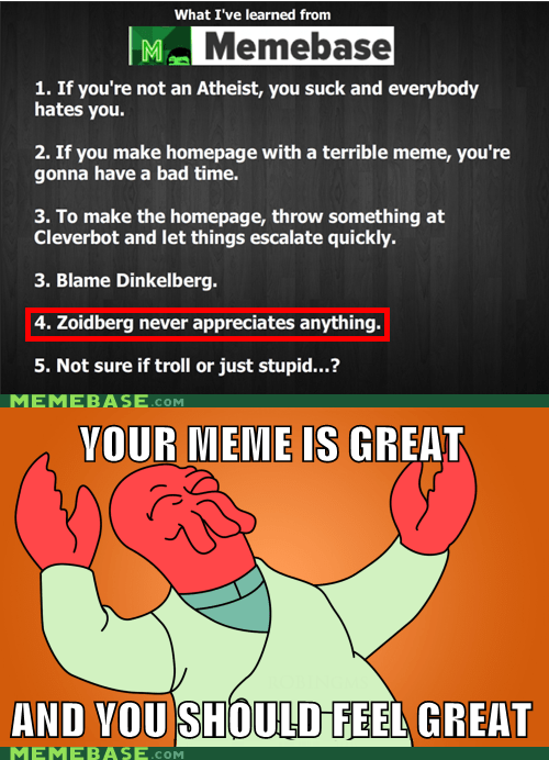 approves,memebase,meta,your meme is bad,Zoidberg