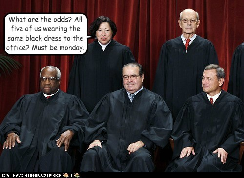 antonin scalia black dress clarence thomas John Roberts monday Office sonia sotomayor stephen breyer Supreme Court