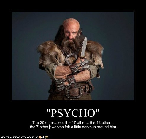 psycho,dwarves,nervous,killing off,knife,The Hobbit,dwalin,graham mctavish
