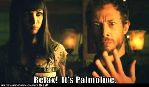 lost girl,bo,anna silk,Kris Holden-Ried,dyson,palmolive,soap,relax horrified,gross