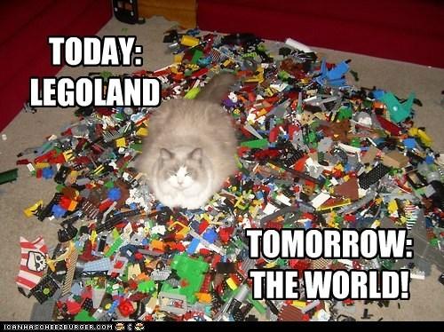 TODAY: LEGOLAND TOMORROW: THE WORLD!
