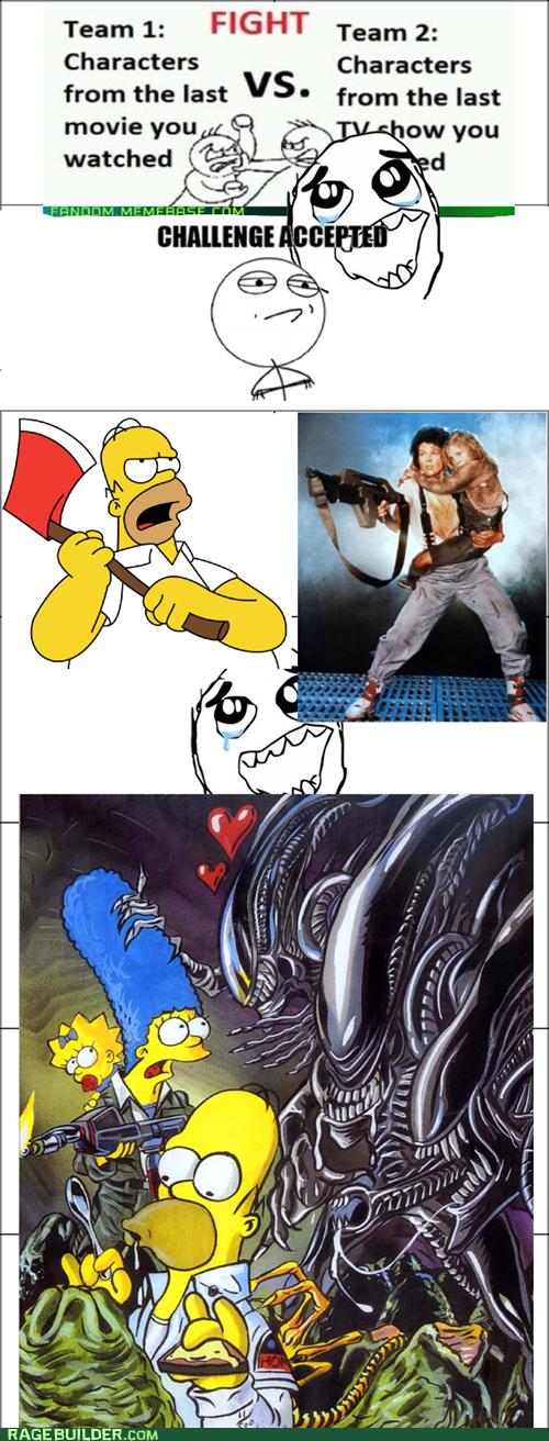 Simpsons vs Alien