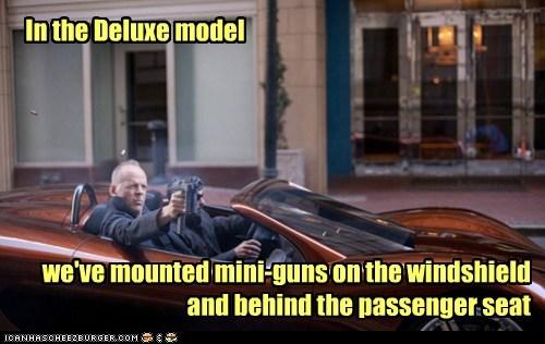 looper deluxe model Minigun passenger seat bruce willis car mounted options - 6608139008