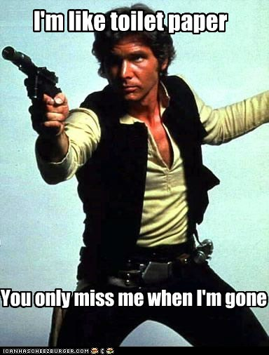 actor celeb funny Han Solo Harrison Ford star wars - 6608490752
