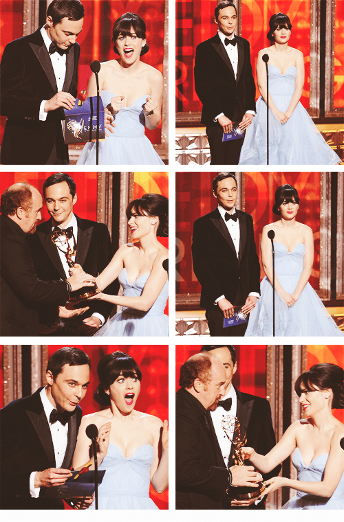 aaron paul actor celeb emmys emmys 2012 jim parsons jon cryer Louie louie ck TV zooey deschanel - 6608589056