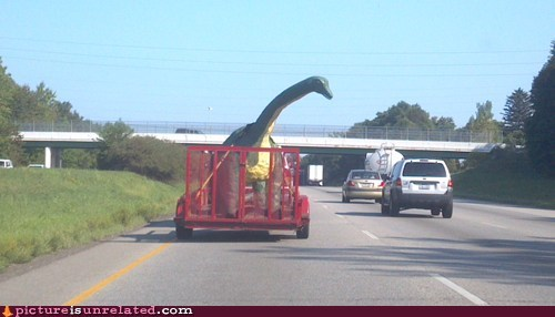 highway,dinosaurs,trailers