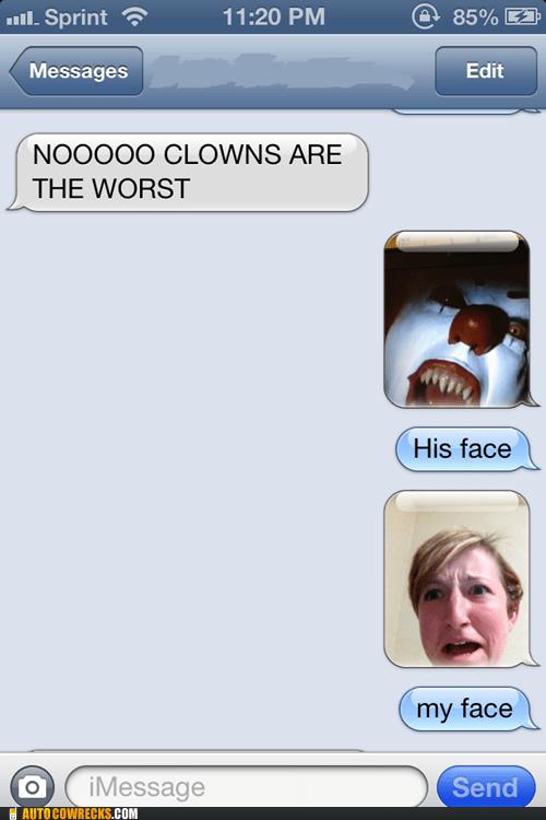 clowns scared halloween it iPhones - 6608874240