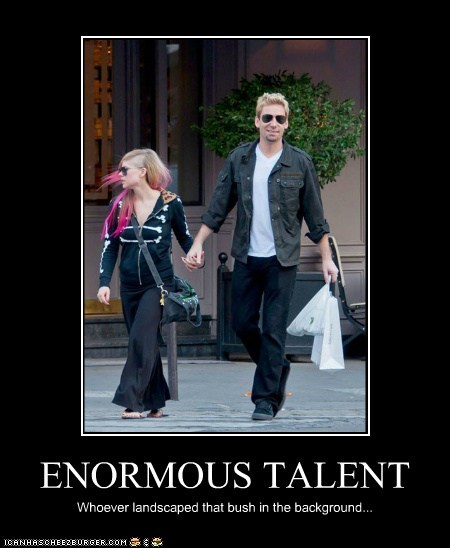 avril lavigne,celeb,chad kroeger,demotivational,funny,Music