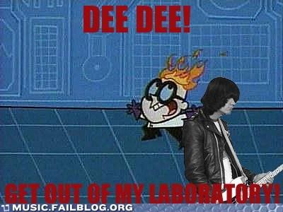 dee dee ramone dexters-laboratory the ramones - 6609453312