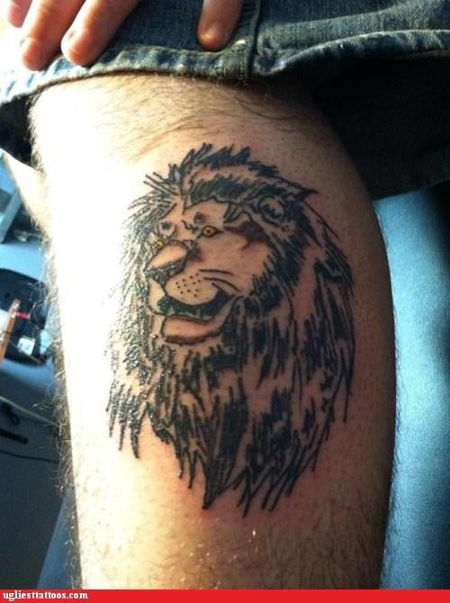 leg tattoo lion - 6609658368