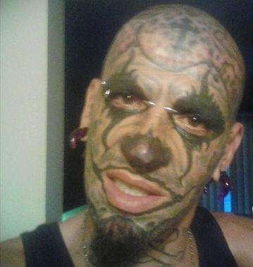 clown cross face tattoos - 6609905152