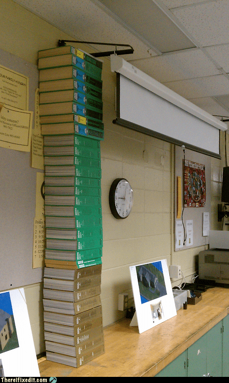 classroom projector textbook