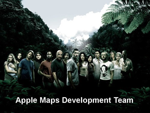 apple maps,lost,development team