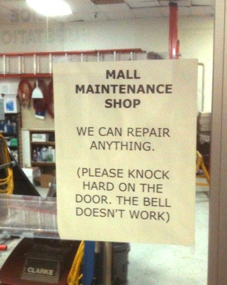 mall maintenance,door,doorbell,we can fix anything