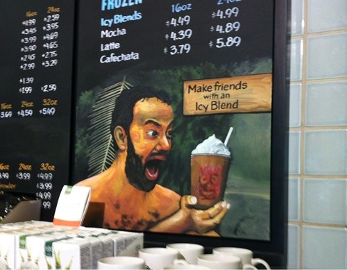 cast away coffee Starbucks tom hanks wilson - 6610173184