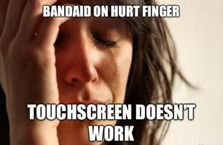 bandaid First World Problems touchscreen