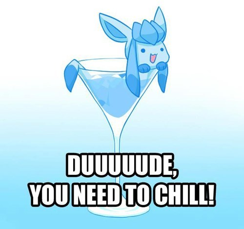 chill,drinks up,glaceon