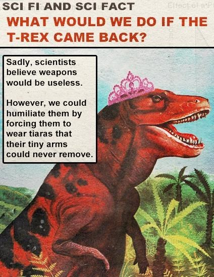 dinosaurs,humiliation,science,t rex,tiaras