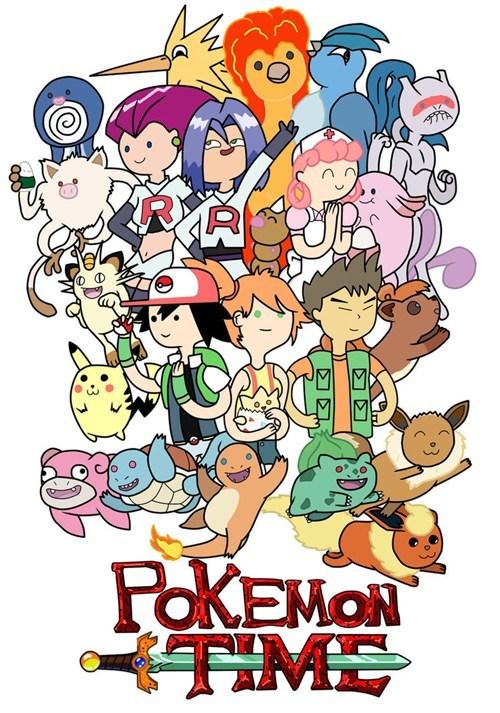 adventure time art crossover Pokémon - 6610236928