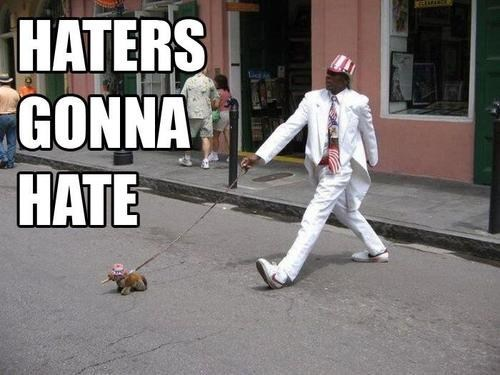 dogs haters gonna hate patriotic swag