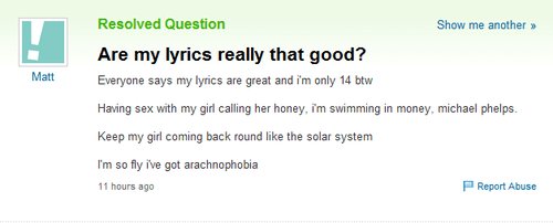 lyrics,rap,yahoo answers
