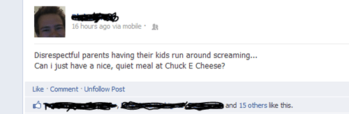 chuck e cheese,facebook