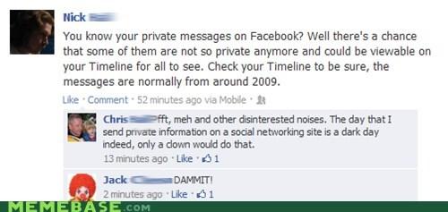 clown facebook privacy - 6610523904