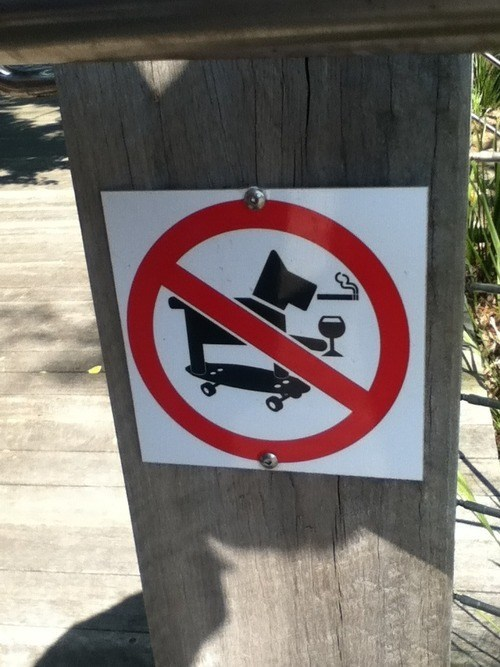 drinking,no dogs,restrictions,skateboarding,smoking