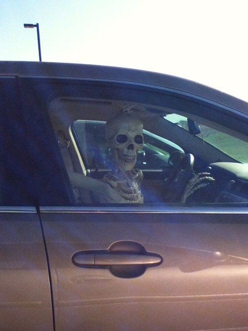 dead,parking,skeleton
