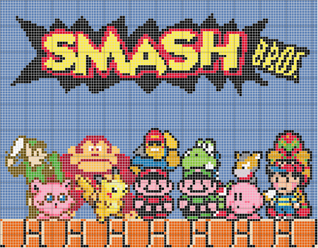 8bit awesome best game evarrrrr super smash bros - 6610533632