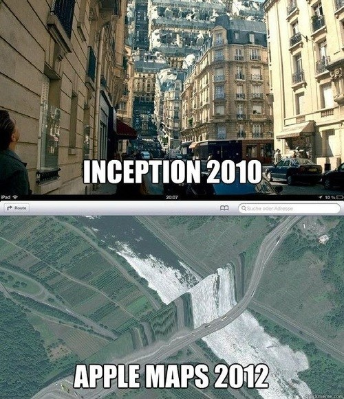 apple maps,Inception,ios 6,iphone 5