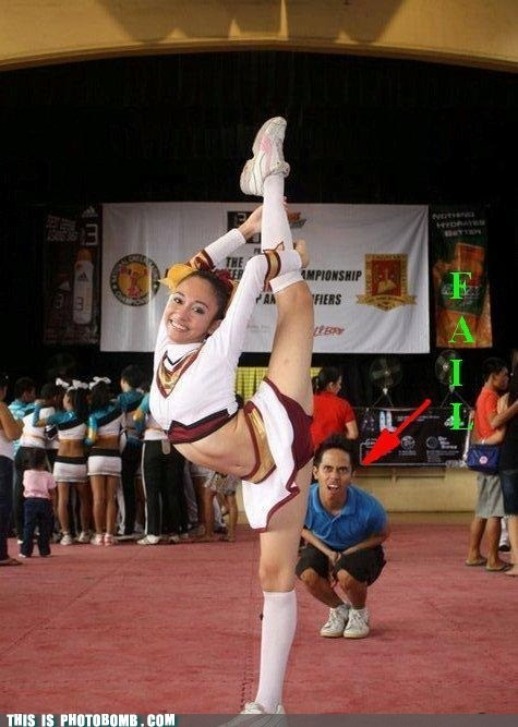 amazing cheerleader dafuq flexible omg
