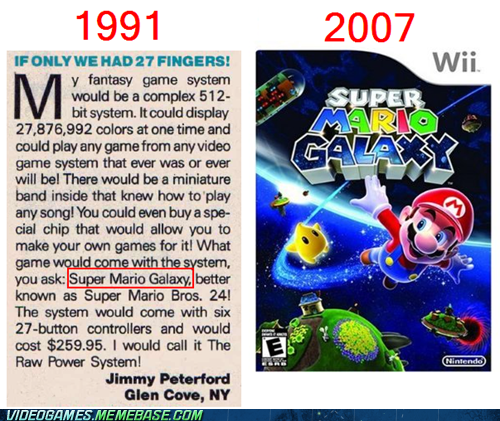 awesome,best console,magazine,nintendo,raw power system,Super Mario Galaxy