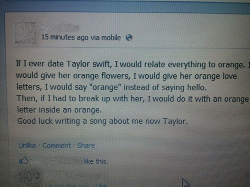 facebook,orange,taylor swift