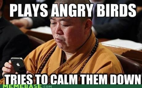 angerbirds,angry birds,iphone,monks
