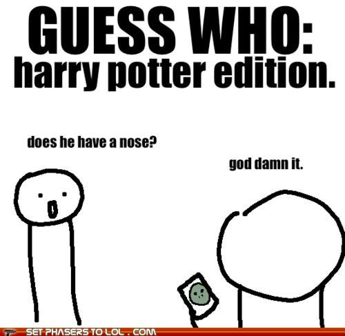 guess who,Harry Potter,nose,damn it,easy,board game