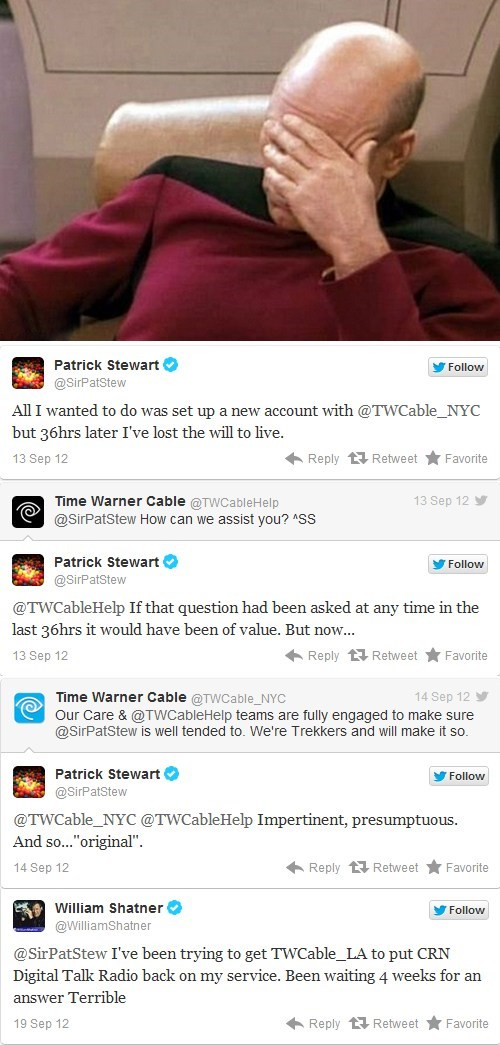 cable,captains,facepalm,patrick stewart,William Shatner