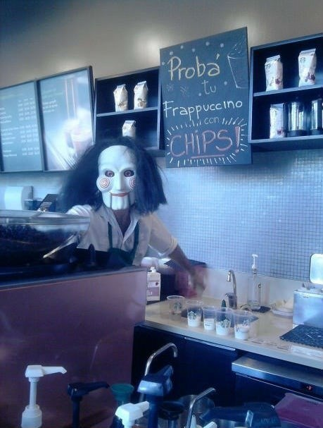 saw,Starbucks,jigsaw