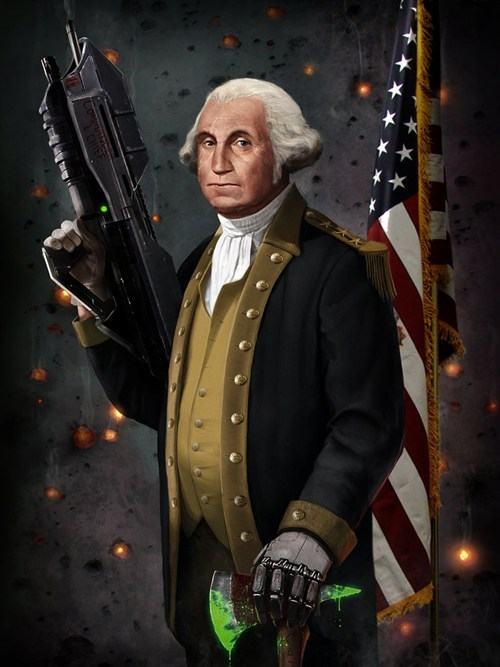art commander and chief george washington halo