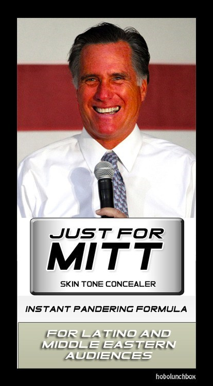 formula Just for Men Mitt Romney pandering skin