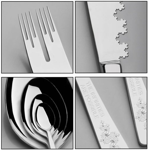 cutlery design fractal spoon