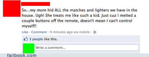 parenting,pyromaniac,remote control